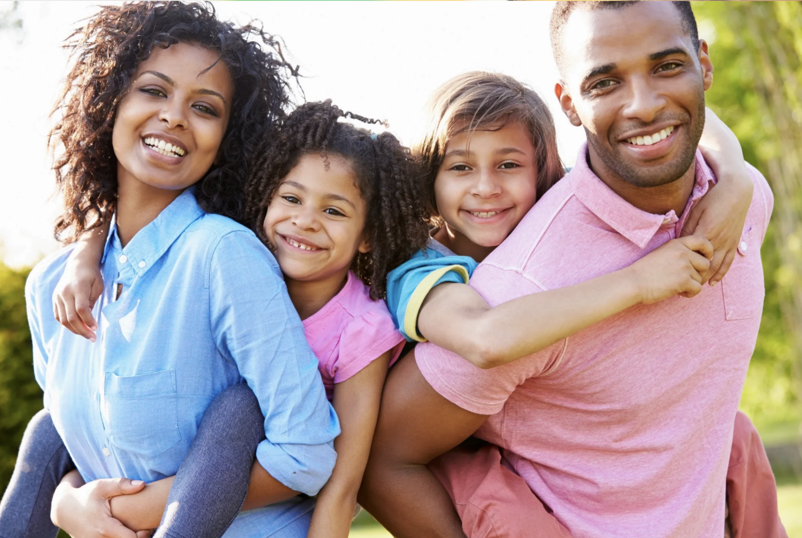 Happy Diverse Family A